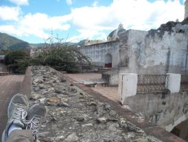 The second floor of the ruins of Convento de la Merced.