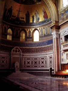 The Chair of the Bishop of Rome at the Basilica of St. John Lateran. (Image from Stock.Exchng)