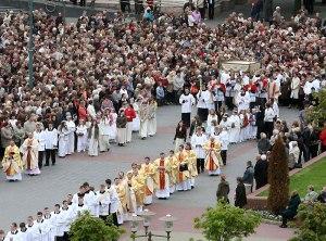 A Corpus Christi procession  in Poland.